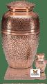 Copper Cremation Urn with Oak Design