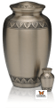 Athena Brushed Pewter Cremation Urn